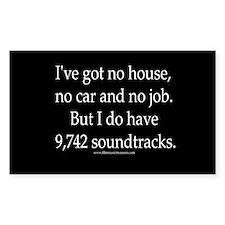 """Lots-o-soundtracks"" Rectangle Decal"