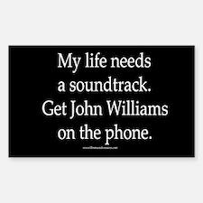 """""""John Williams"""" Rectangle Decal"""