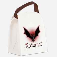 Bat_grey Canvas Lunch Bag