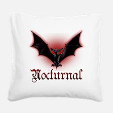 Bat_grey Square Canvas Pillow