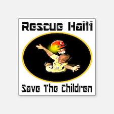 """rescue_haiti_ellipse2 Square Sticker 3"""" x 3"""""""