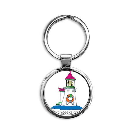 KF-[Lighthouse]-11.002 Round Keychain