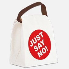 JUST SAY NO.eps Canvas Lunch Bag