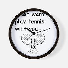 tennis_tr Wall Clock
