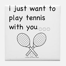 tennis_tr Tile Coaster