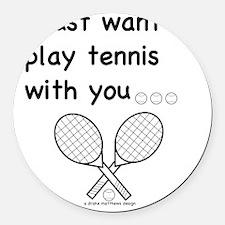 tennis_tr Round Car Magnet