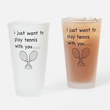 tennis_tr Drinking Glass