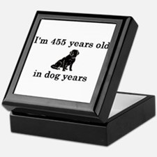 65 birthday dog years lab 2 Keepsake Box