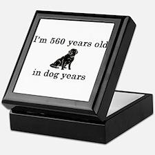 80 birthday dog years lab 2 Keepsake Box