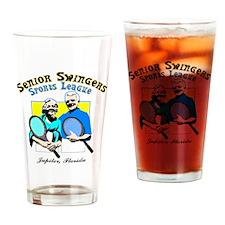 Senior Swingers Sports League.eps Drinking Glass