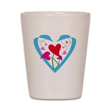 hearts10x10 Shot Glass