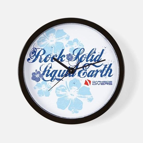 RockSolid-Hibiscus-WhiteShirt Wall Clock