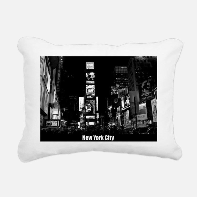 Times Square-New York Rectangular Canvas Pillow