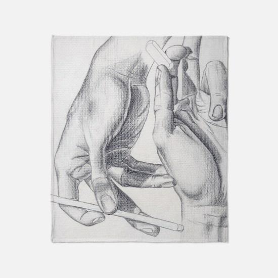 Artists Hands Throw Blanket