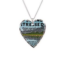 stressed-lake Necklace
