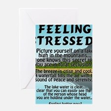 stressed-lake Greeting Card