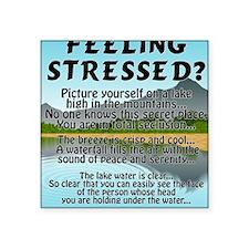 "stressed-lake Square Sticker 3"" x 3"""