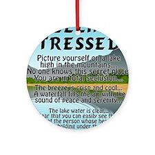 stressed-lake Round Ornament