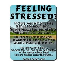 stressed-lake Mousepad