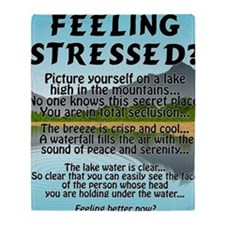 stressed-lake Throw Blanket
