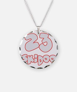23 Skidoo Necklace Circle Charm