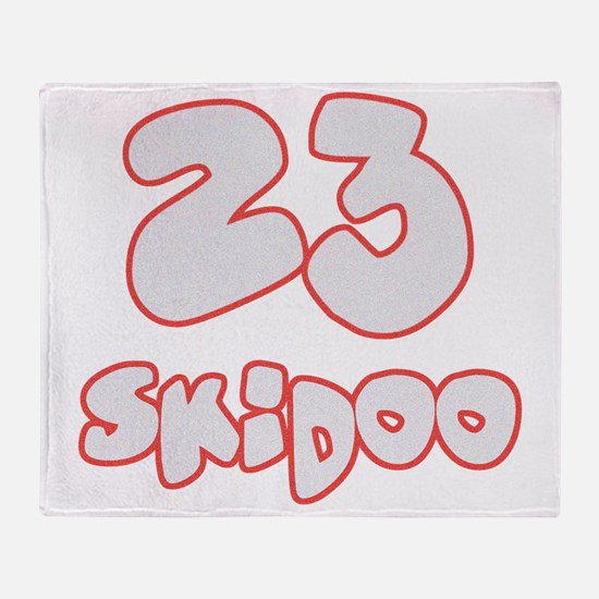 23 Skidoo Throw Blanket