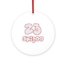 23 Skidoo Round Ornament