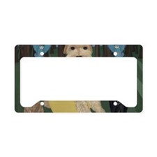 wire white 42 by 28 License Plate Holder