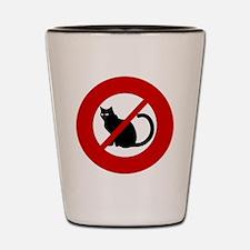 no-cats Shot Glass