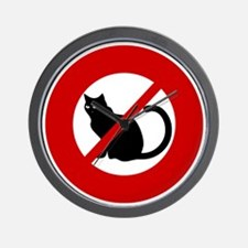 no-cats Wall Clock