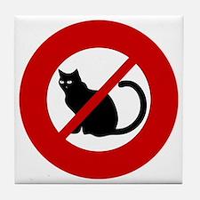 no-cats Tile Coaster
