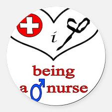 love_being_a_male_nurse Round Car Magnet