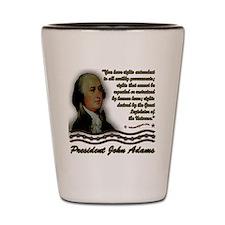 John Adams design on black Shot Glass