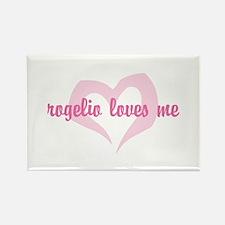 """rogelio loves me"" Rectangle Magnet"