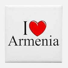 """""""I Love Armenia"""" Tile Coaster"""