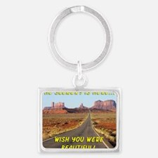 The Scenery is here Landscape Keychain