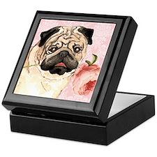 Pug Rose Keepsake Box