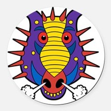 Maxs Dragon Shirt Round Car Magnet