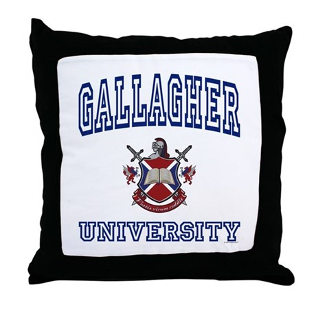 GALLAGHER University Throw Pillow