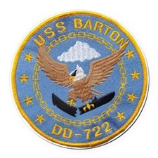 barton patch Round Car Magnet