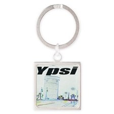 ypsiwatertower2 for shirts Square Keychain