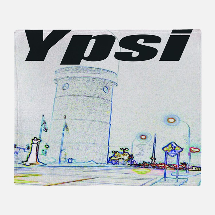 ypsiwatertower2 for shirts Throw Blanket