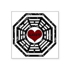 """2-Dharma Lost Square Sticker 3"""" x 3"""""""
