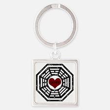 2-Dharma Lost Square Keychain