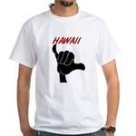 Hang Loose Hawaii Hand White T-Shirt