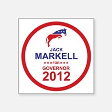 "2012_jack_markell_main Square Sticker 3"" x 3"""