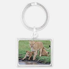 Lion Landscape Keychain