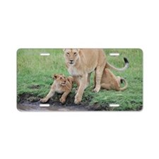 Lion Aluminum License Plate