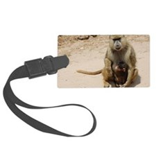 Baboon Luggage Tag