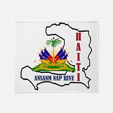2-Haiti-SHIRT Throw Blanket